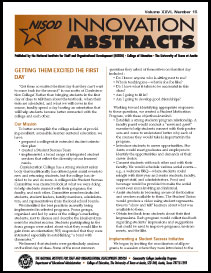 Innovation Abstracts