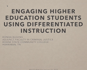 Webinar Preview - Engaging Higher Education Students