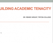 Webinar Preview - Building Academic Tenacity