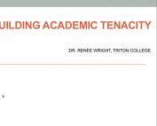 Webinar Preview - Building Academic Tenacity