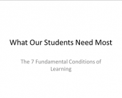 Webinar Preview - What Our Students Need Most