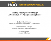 Webinar Preview - Meeting Faculty Needs