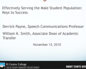 Webinar Preview - Effectively Serving the Male Student Population