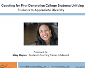 Webinar Preview - Coaching for First Generation Students