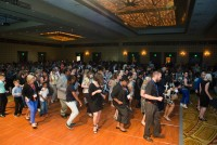Line dancing at the Dinner and Celebration!