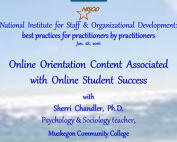 Webinar Preview - Online Orientation Content