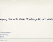 Webinar Preview - Helping Students Value Challenge and Hard Work
