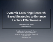 Dynamic Lecturing Webinar preview