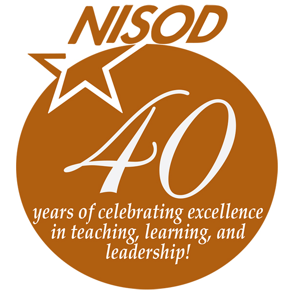 NISOD 40th logo