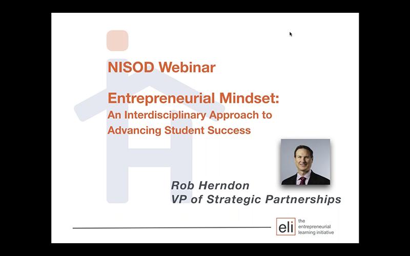 entrepreneurial mindset  an interdisciplinary approach to advance student success