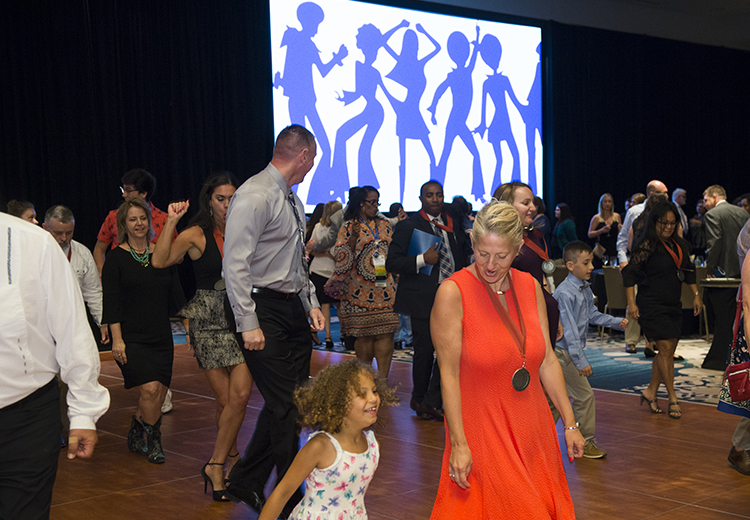 2018 NISOD Excellence Award Dinner and Celebration dancing 3 photo