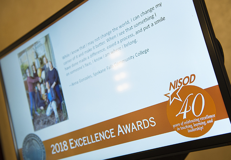 NISOD Excellence Award Kiosks