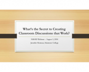 What's the Secret to Creating Classroom DiscussionsThat Work? preview