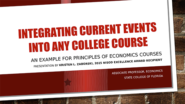 Integrating Current Events Into Any College Course Nisod