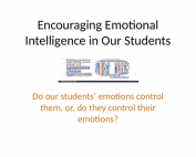 Encouraging Emotional Intelligence Webinar preivew