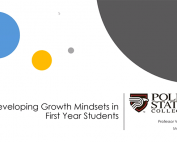 Growth Mindset: Growing the Minds of First-Year College Students preview