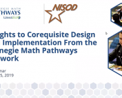 Insights to Corequisite Design and Implementation From the Carnegie Math Pathways Network preview