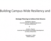 Building the Capacity for Campuswide Resiliency and Reform preview