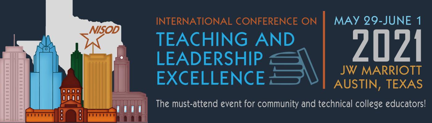 2021 NISOD Conference banner image