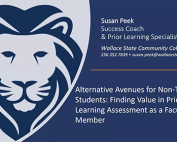 Alternative Avenues for Non-Traditional Students: Finding Value in Prior Learning Assessment as a Faculty Member preview image