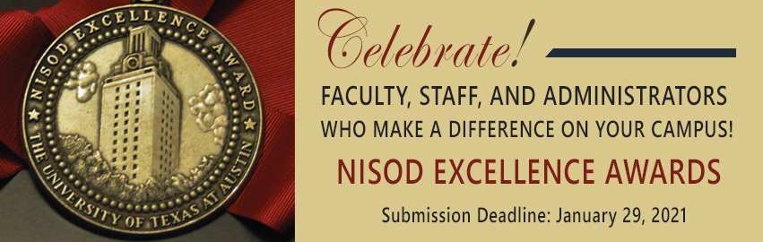 Submit your NISOD Excellence Awards